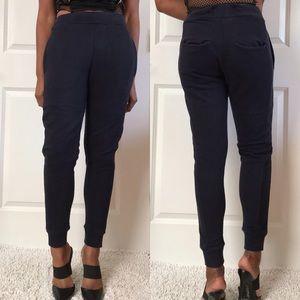 Zara Blue Cropped Jogger Pants